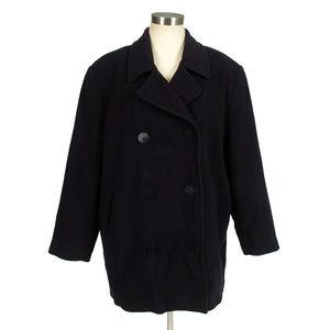 L.L. Bean Wool Cashmere blend black peacoat Jacket